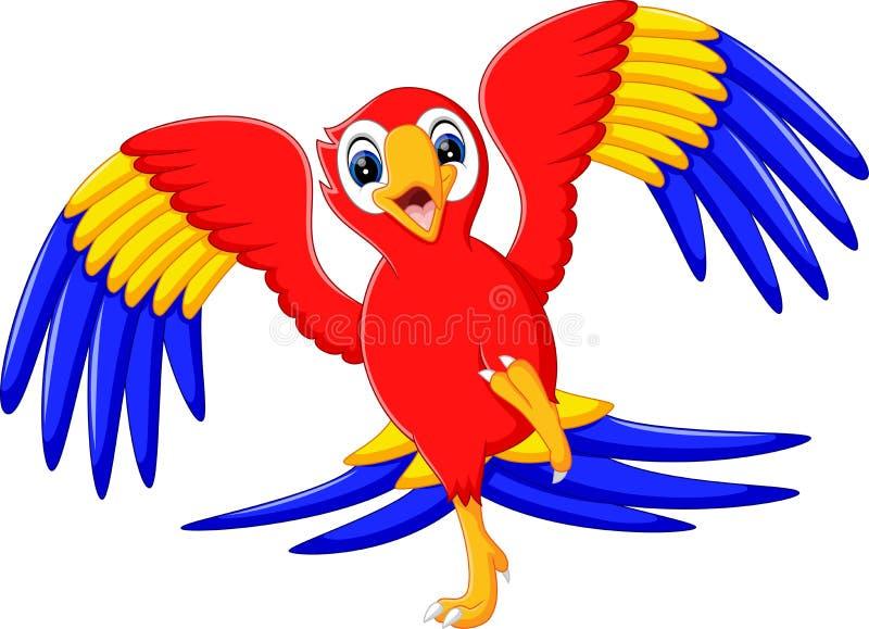 Śliczna papuzia kreskówka ilustracja wektor