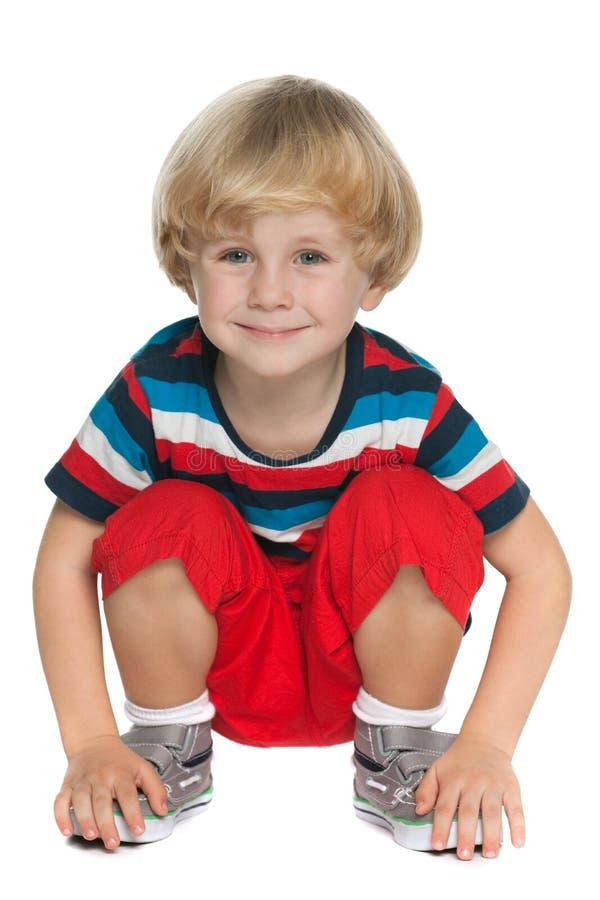 Śliczna preschool chłopiec zdjęcia royalty free