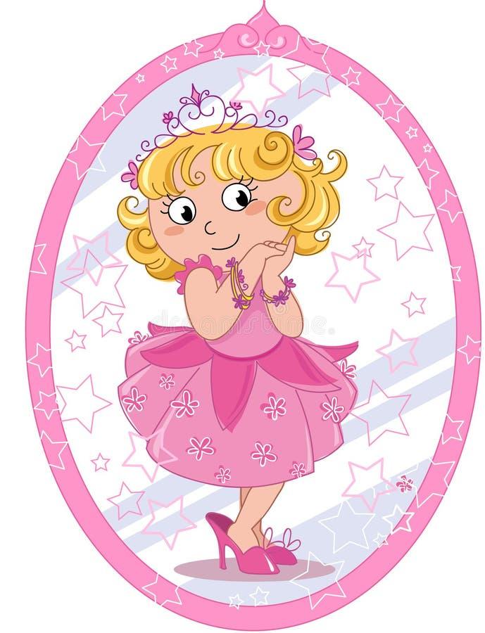 Śliczna princess dziewczyna ilustracja wektor