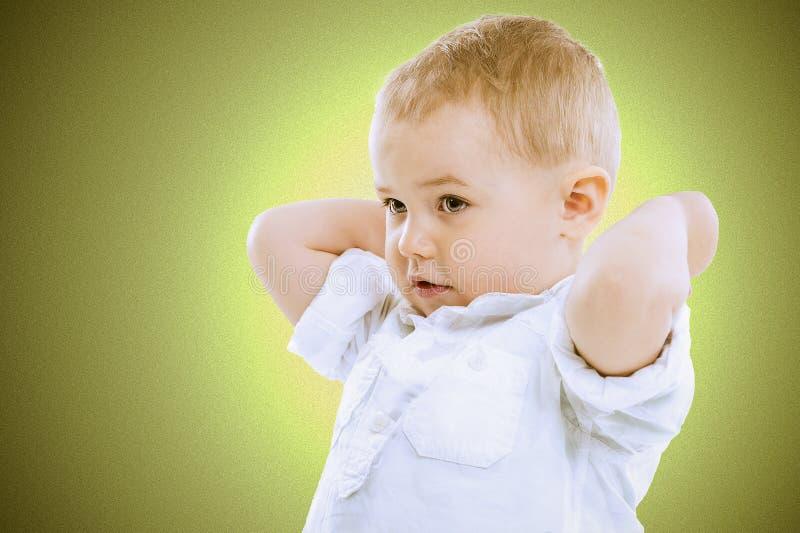 Śliczna przystojna chłopiec obraz royalty free