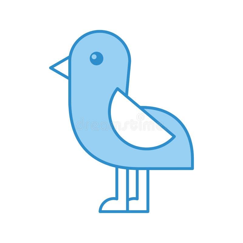 Śliczna ptasia denna ikona royalty ilustracja