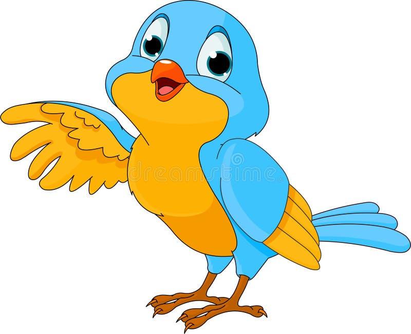 śliczna ptasia kreskówka royalty ilustracja