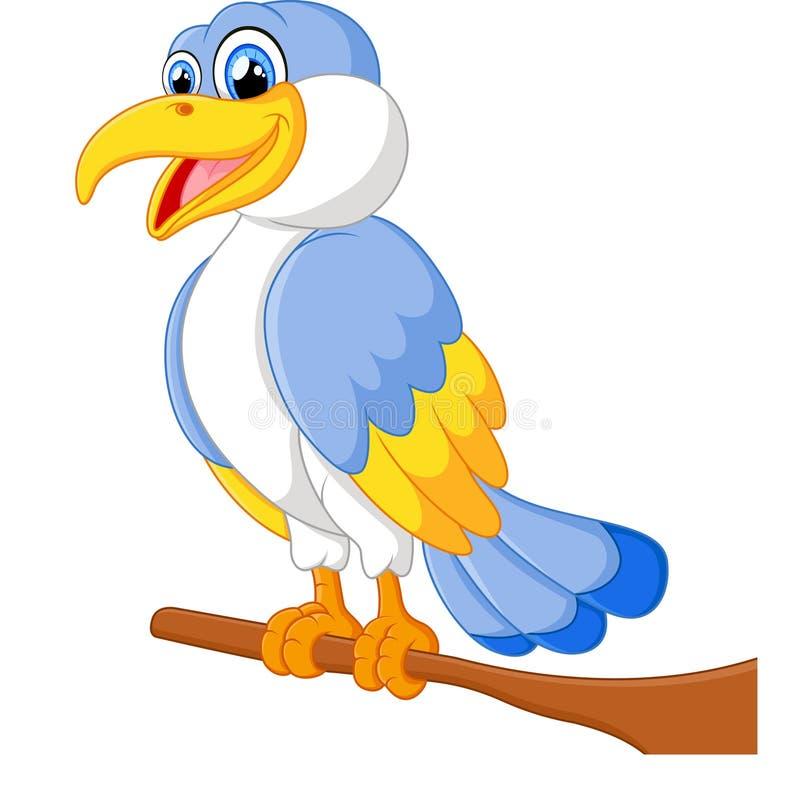 śliczna ptasia kreskówka ilustracji