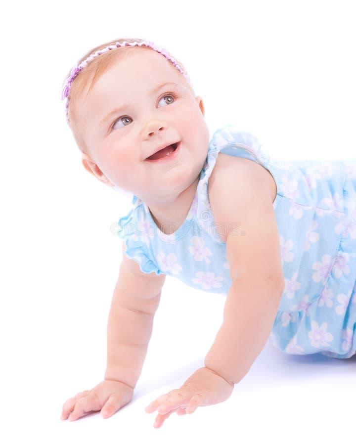 Śliczna radosna dziewczynka zdjęcia royalty free