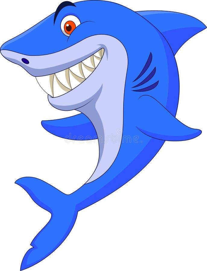 Śliczna rekin kreskówka royalty ilustracja