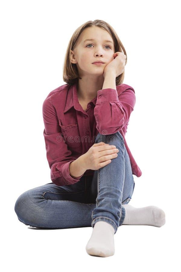 Śliczna rozważna nastoletnia dziewczyna obrazy stock