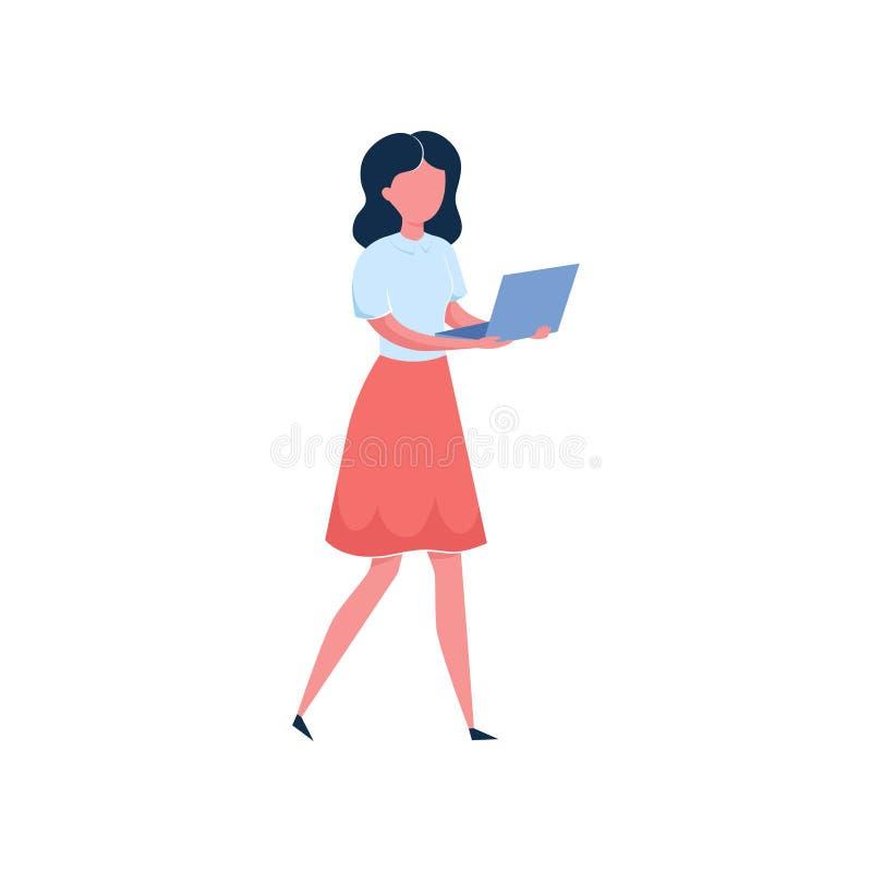 ?liczna seksowna brunetki dziewczyna w czerwieni sukni dzia?aniu royalty ilustracja