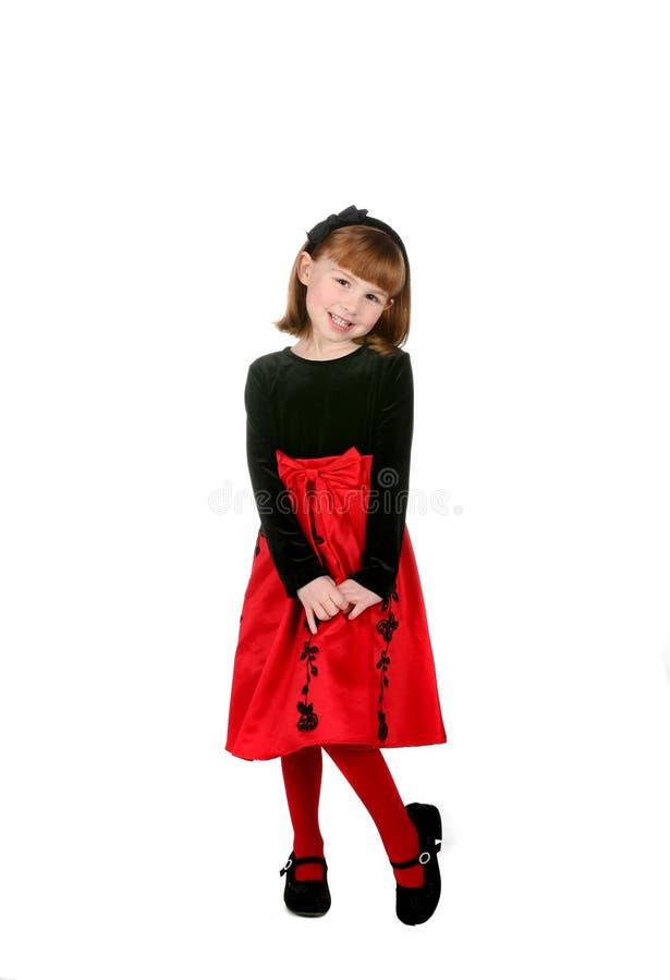 śliczna smokingowa dziewczyny wakacje czerwień zdjęcia stock