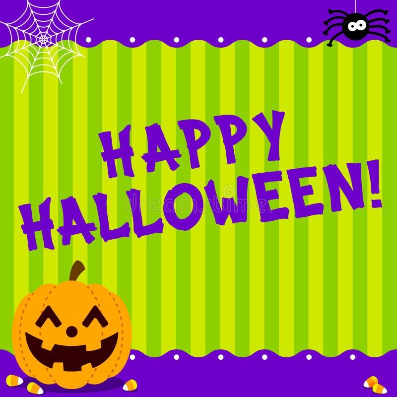 Śliczna Szczęśliwa Halloweenowa wiadomość ilustracja wektor