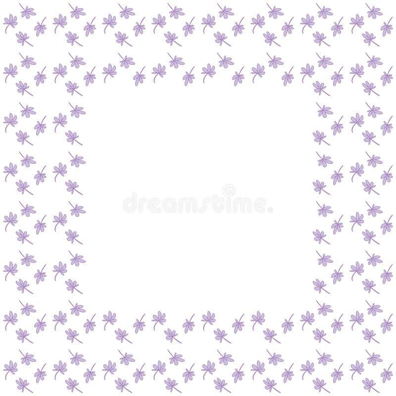 Śliczna tło granicy rama z liść siatką royalty ilustracja