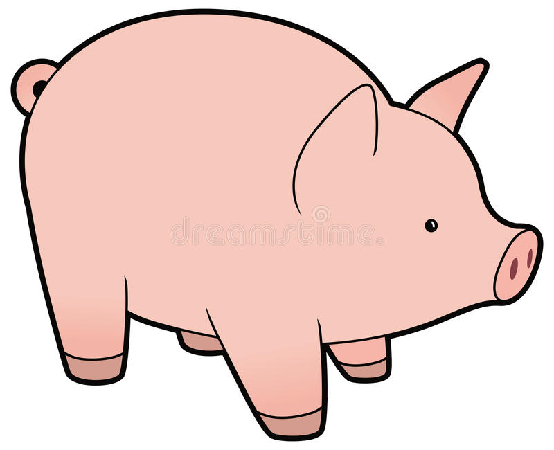 Śliczna wektorowa mała świnia royalty ilustracja