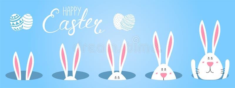 Śliczna Wielkanocnego królika karta royalty ilustracja