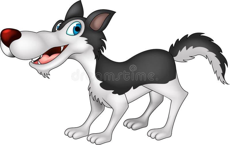 Śliczna wilcza kreskówka ilustracji