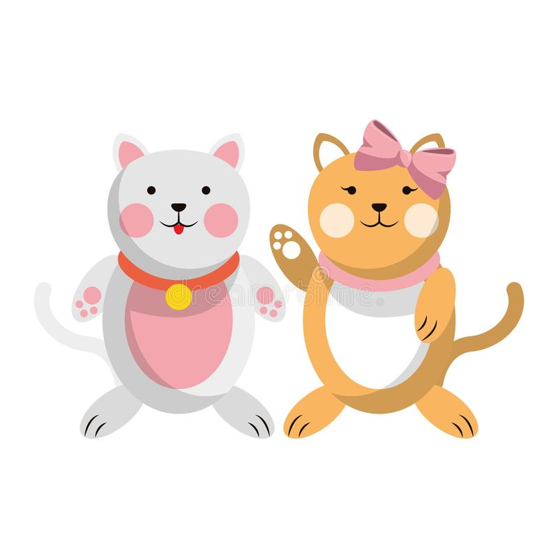 Åšliczna zwierzÄ™ para royalty ilustracja