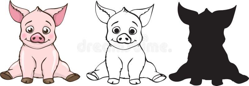 Śliczne świnie ustawiać ilustracji
