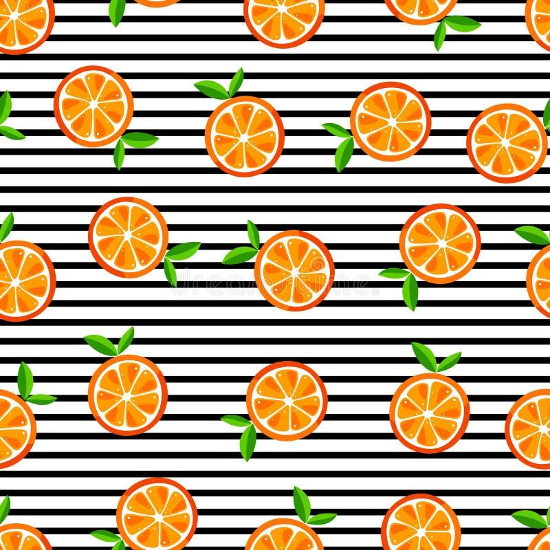 Śliczne bezszwowe pomarańcze ilustracji