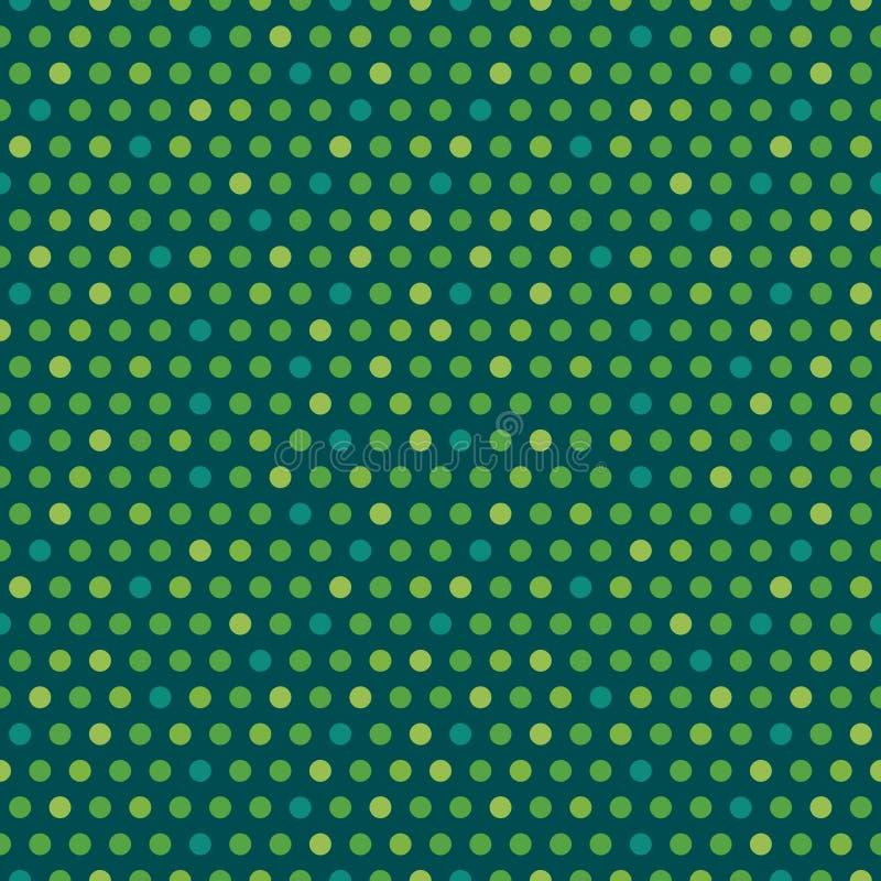 Śliczne bezszwowe wektorowe irlandzkie tło zieleni kropki royalty ilustracja
