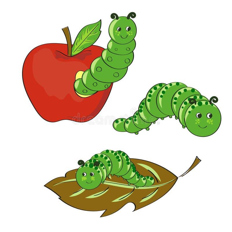 Download Śliczne Gąsienicy Ustawiać Ręki Rysować Wektorowe Ilustracje Ilustracja Wektor - Ilustracja złożonej z radosny, niepowodzenia: 65226149