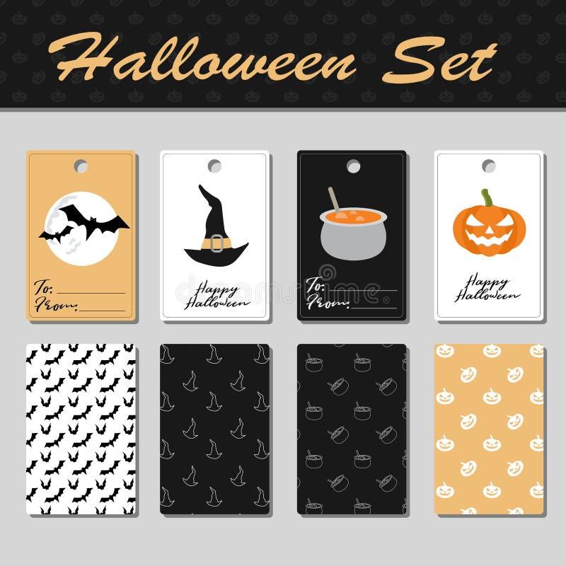 Śliczne Halloween karty obraz stock