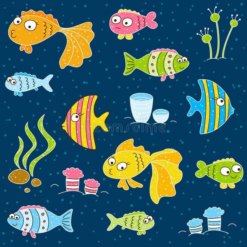Śliczne kreskówek ryba ilustracja wektor