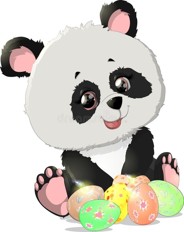 Śliczne panda niedźwiedzia ilustracje royalty ilustracja