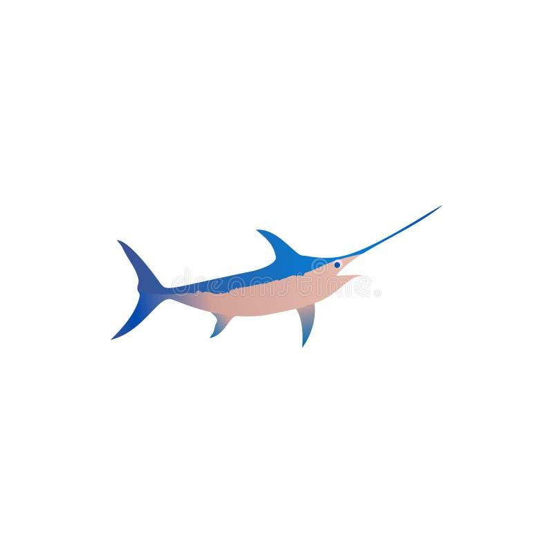 Śliczne rybie wektorowe ilustracyjne ikony ustawiać Rybia mieszkanie stylu wektoru ilustracja Rybie ikony odizolowywać Tropikalna ilustracji