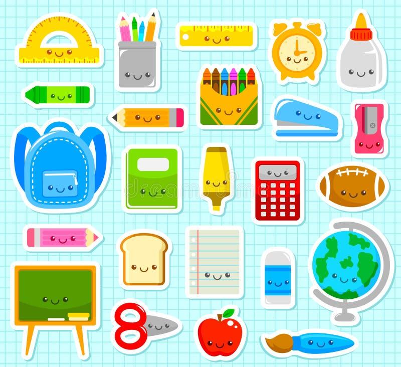 Śliczne szkolne rzeczy royalty ilustracja