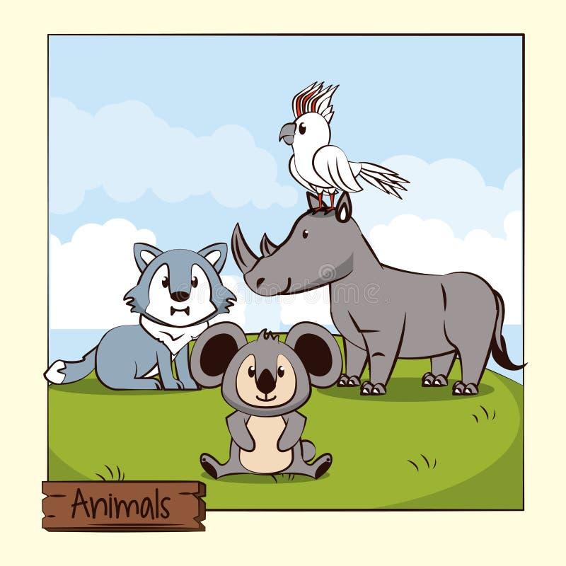śliczne zwierzę kreskówki royalty ilustracja