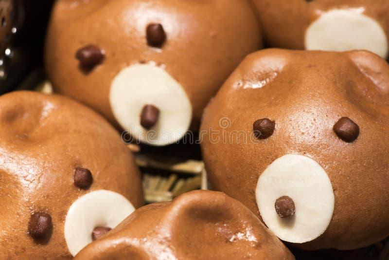 Ślicznego świniowatego baozi chińczyka odparowane babeczki fotografia royalty free