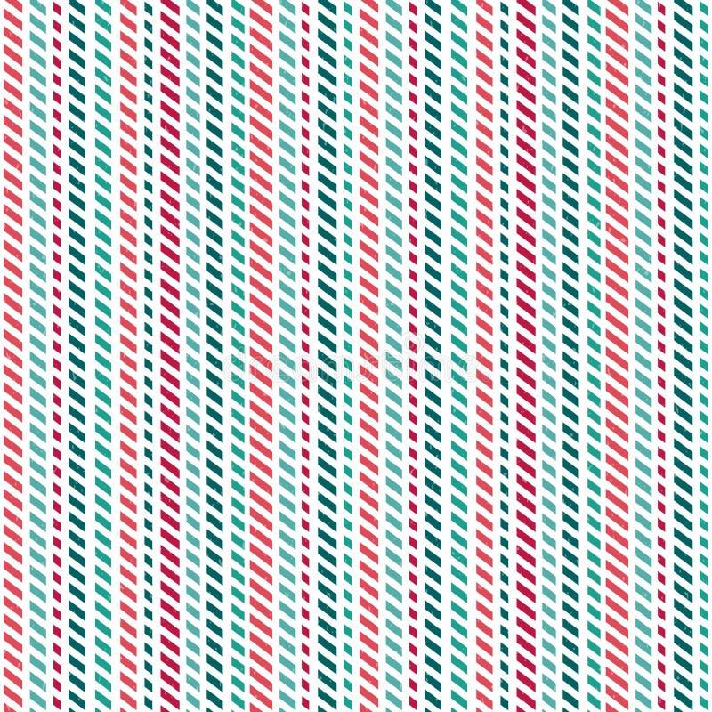 Ślicznego bezszwowego tła lampasów czerwieni zieleni geometryczny biel royalty ilustracja