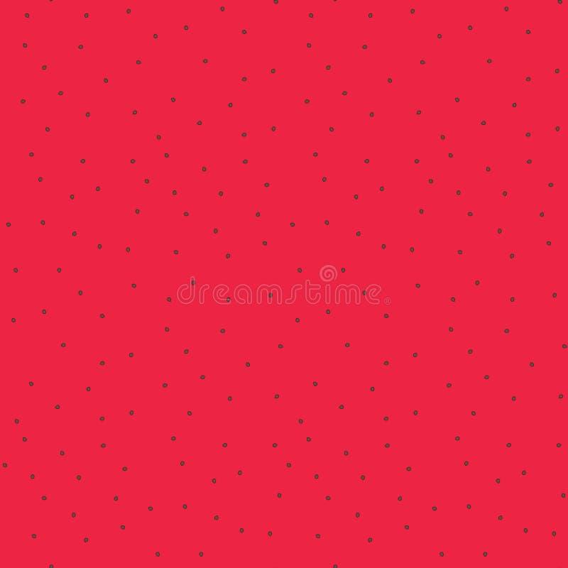 Ślicznego jaskrawego koloru arbuza czerwoni świezi ciała z ziarno wzorem ilustracji