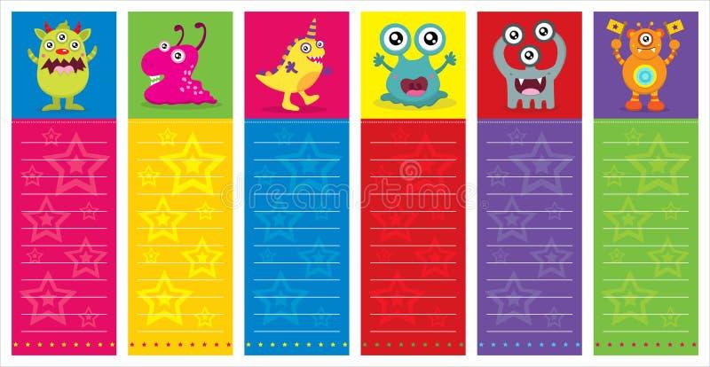 Ślicznego potwora zaproszenia Urodzinowa karta royalty ilustracja