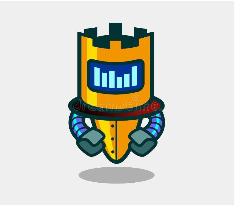 Ślicznego robota animowany charakter dla projekta ilustracja wektor