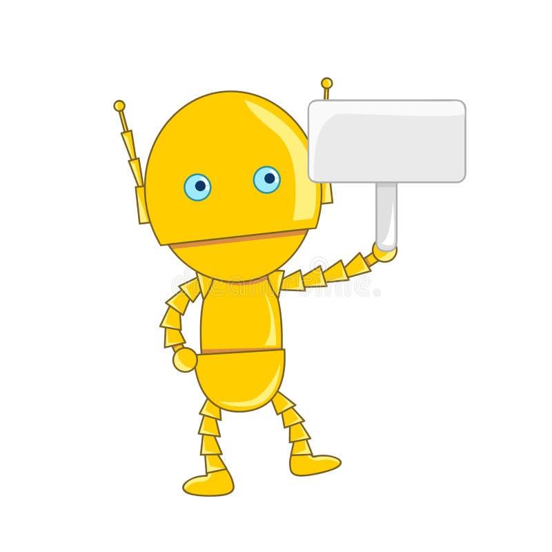 Ślicznego robota odosobniona ilustracja ilustracja wektor