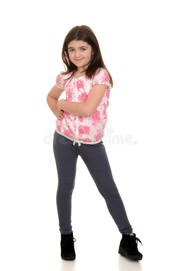 ślicznej dziewczyny mały target2011_0_ zdjęcie stock