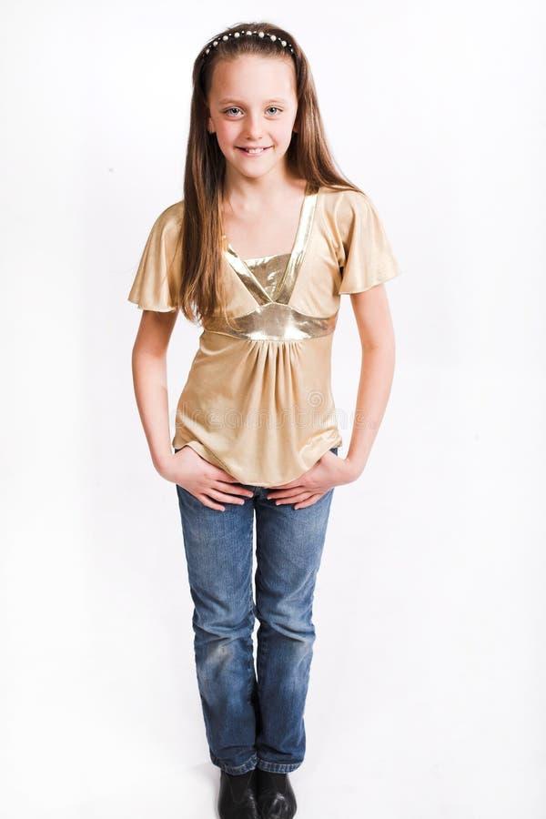 ślicznej dziewczyny mały uśmiech obraz royalty free