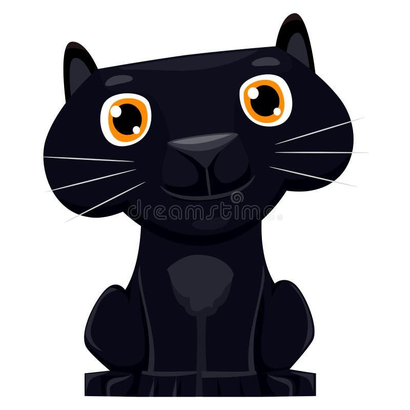 Ślicznej kreskówki Czarna pantera royalty ilustracja