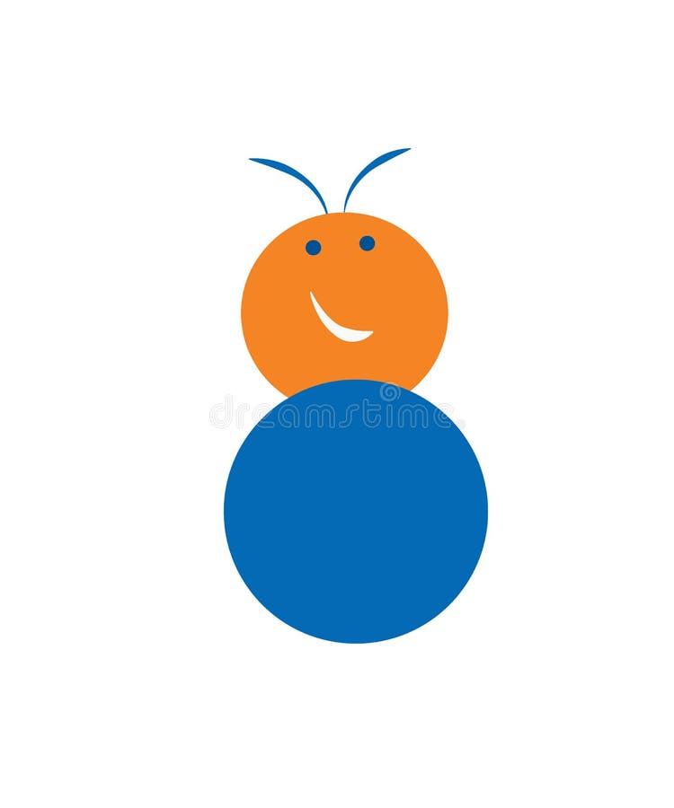 Ślicznej kreskówki mała mrówka odizolowywająca na białym tle ilustracji