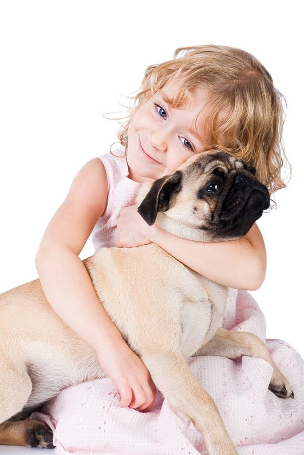 ślicznej psiej dziewczyny odosobniony uroczy ja target1498_0_ obrazy stock