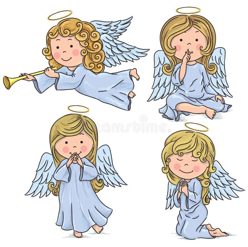 Śliczni aniołowie ilustracja wektor