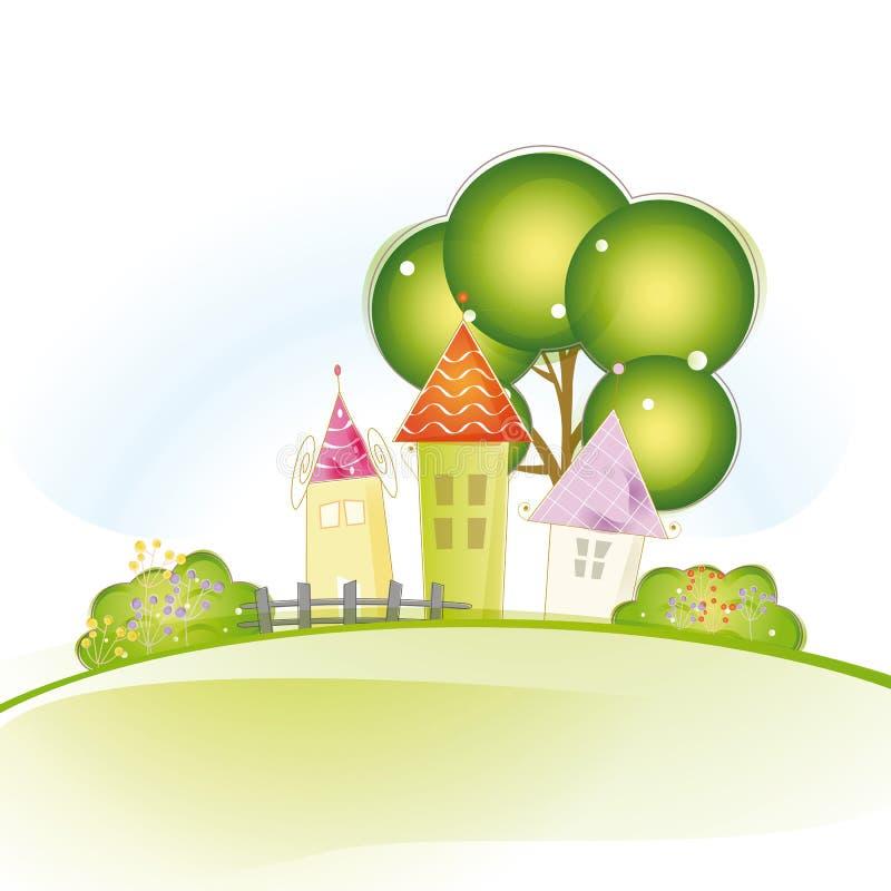 Śliczni domy ilustracji