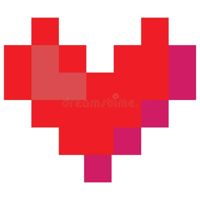 Śliczni 8 kawałków valentines kochają kierową wektorową ilustrację Gemowa życie piksla sztuka ilustracji