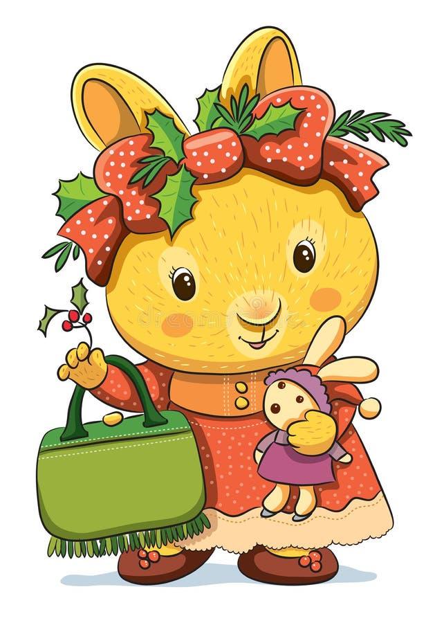 śliczni królików boże narodzenia royalty ilustracja