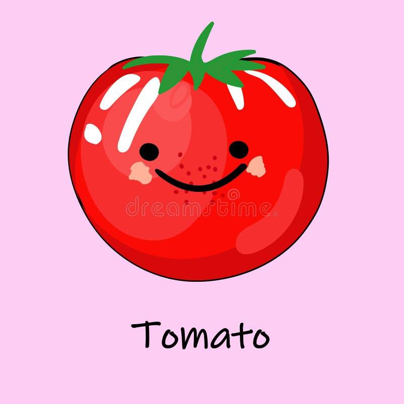 Śliczni kreskówek warzywa z uśmiechami na twarzach i emocjach KARTY DLA dziecko edukacji Śliczny jarzynowy charakter wektor royalty ilustracja