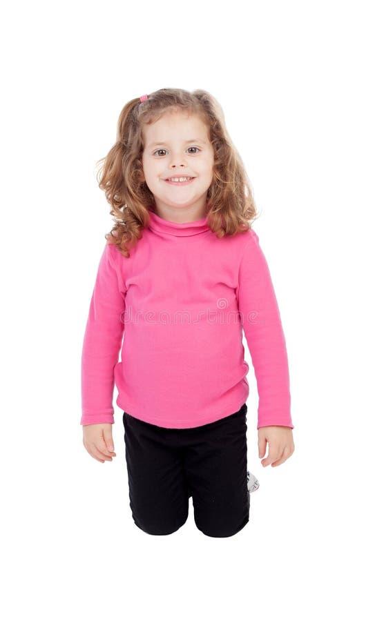 Śliczni małych dziewczynek kolana fotografia royalty free