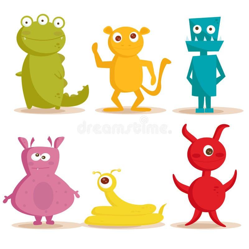 śliczni potwory royalty ilustracja