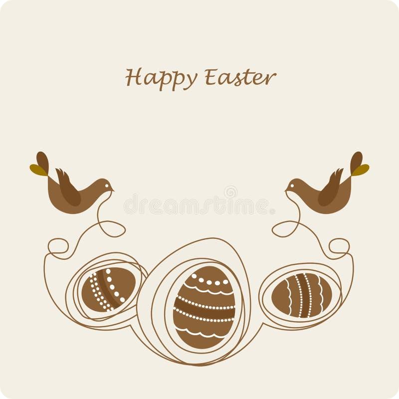 śliczni ptaków jajka ilustracja wektor