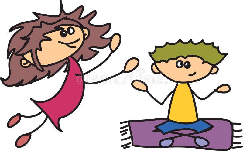 Śliczni szczęśliwi dzieciaki ilustracja wektor