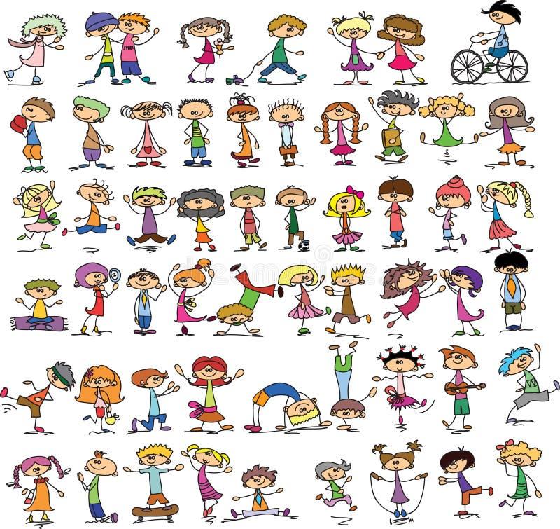 Śliczni szczęśliwi dzieciaki ilustracji