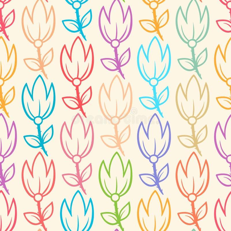 Śliczni tulipany ilustracji